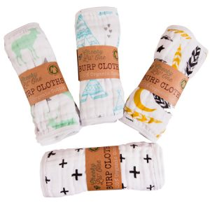 heeky lil one organic cotton burp cloth collection