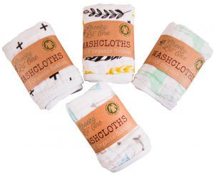 cheeky lil one organic cotton wash cloths collection