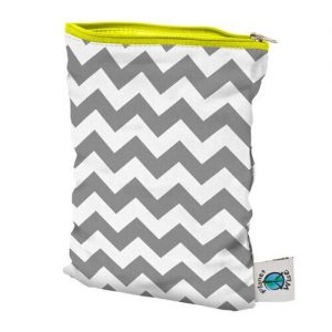 planet wise medium wet bag grey chevron
