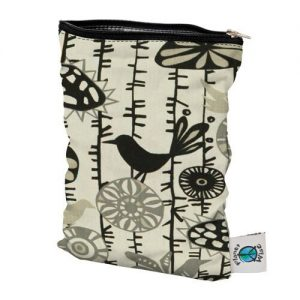 planet wise wet bag small menagerie twill