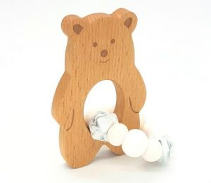 tiny moons baloo teether white marble