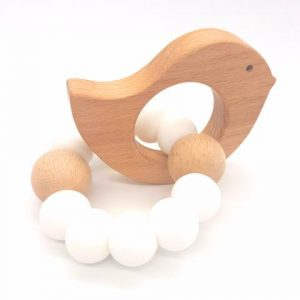 tiny moons teether bird Snow White