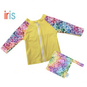 bubblebubs droplets rash vest iris