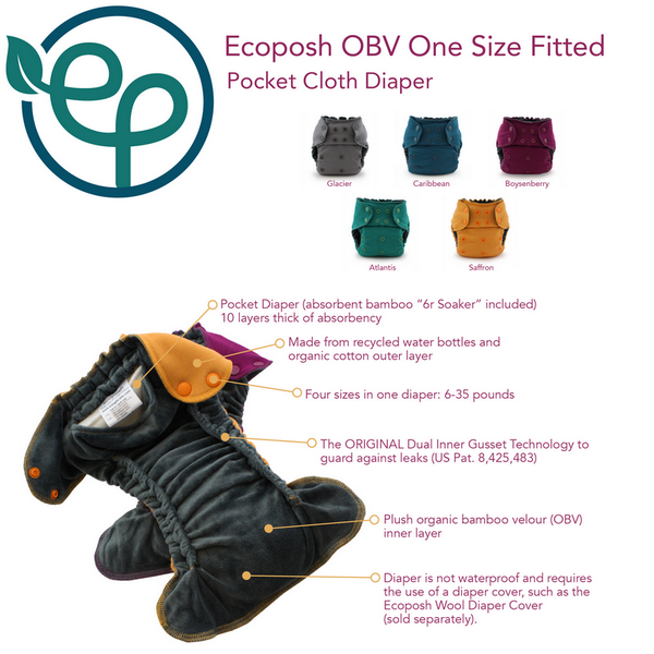 eco posh obv fitted nappy