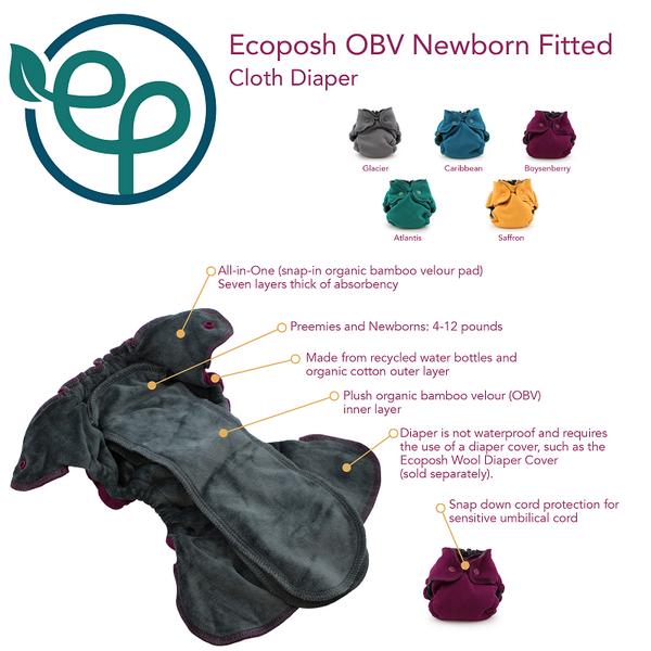 eco posh newborn fitted nappy