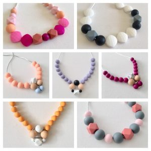 little pear teething necklaces