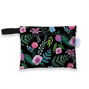 thirsties mini wet bag floribunda