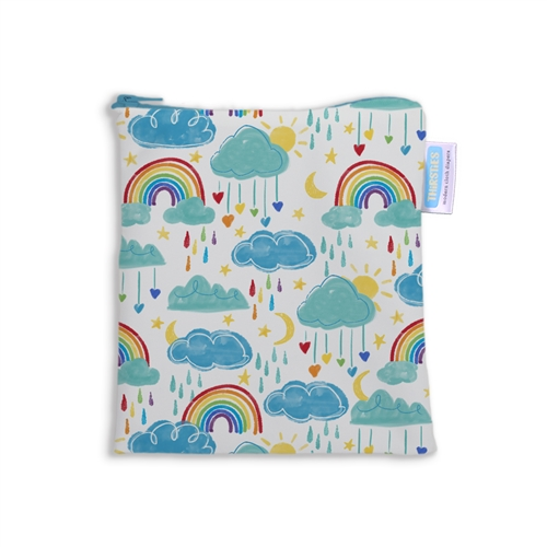 thirsties sandwich & snack bags rainbow
