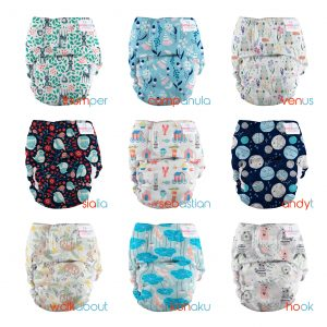 bubblebubs pebbles all in one cloth nappy newborn grid July 2020
