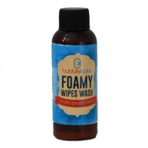 bubblebubs foamy wipes wash