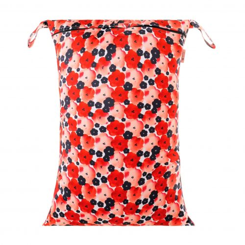 petite crown large wet bag poppies